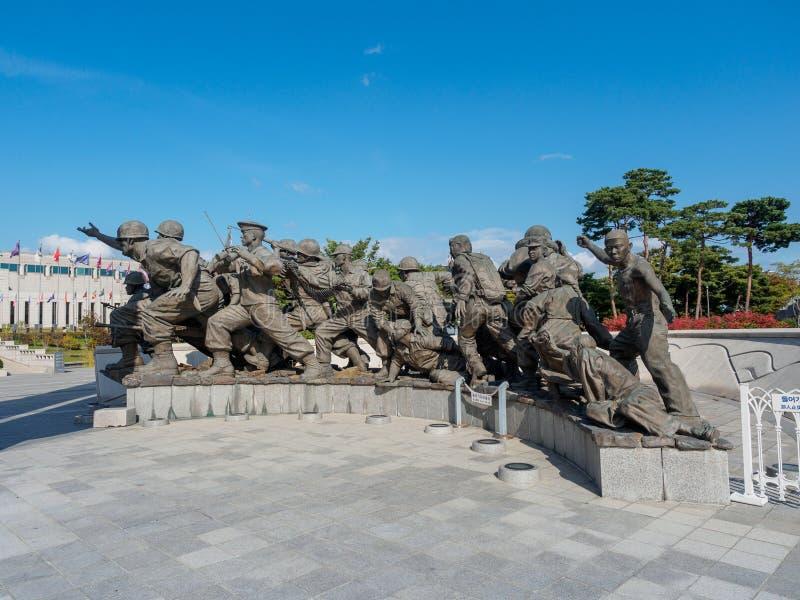 Военный мемориал Кореи 22-ого октября 2017 расположенный в Yongsan-gu, стоковое изображение rf