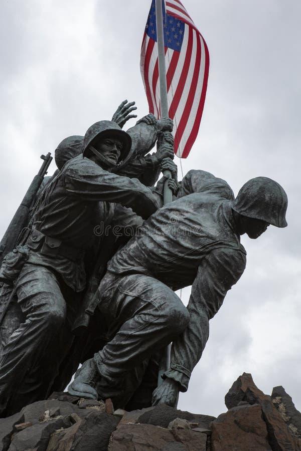 Военный мемориал морской пехот США стоковое фото rf