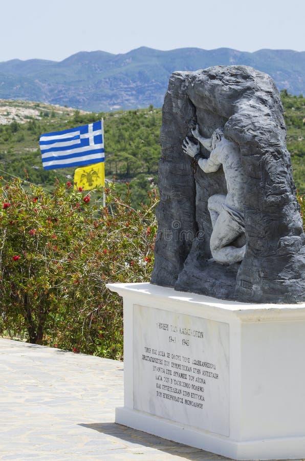 Военный мемориал, посвященный греческому сопротивлению на острове Родос во время Второй мировой войны стоковое изображение rf