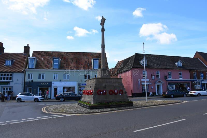 Военный мемориал, Holt, Норфолк, Англия стоковое фото