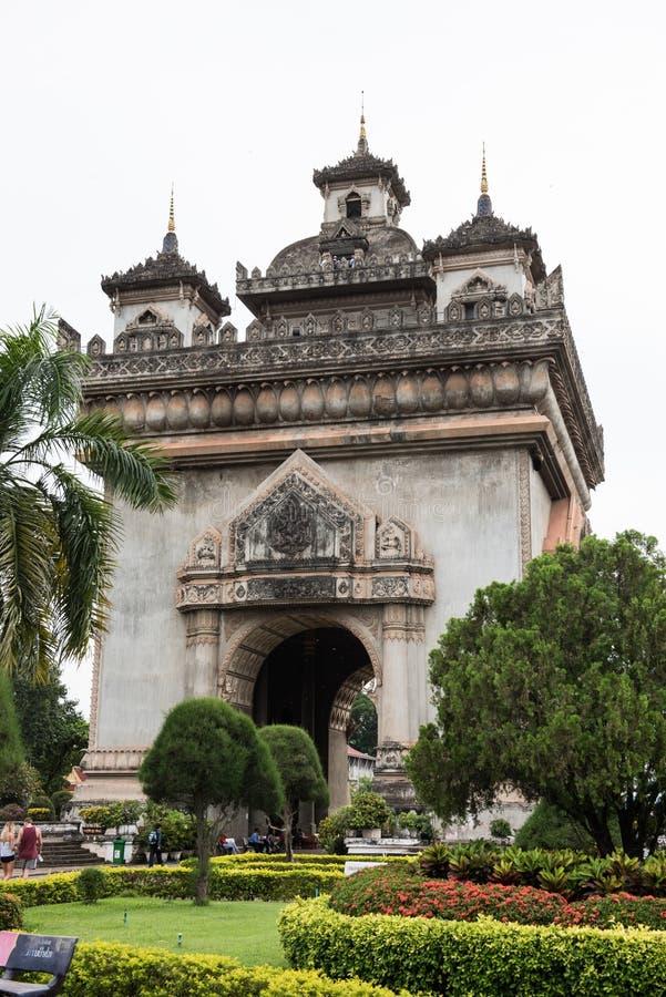Военный мемориал в Лаосе стоковое фото