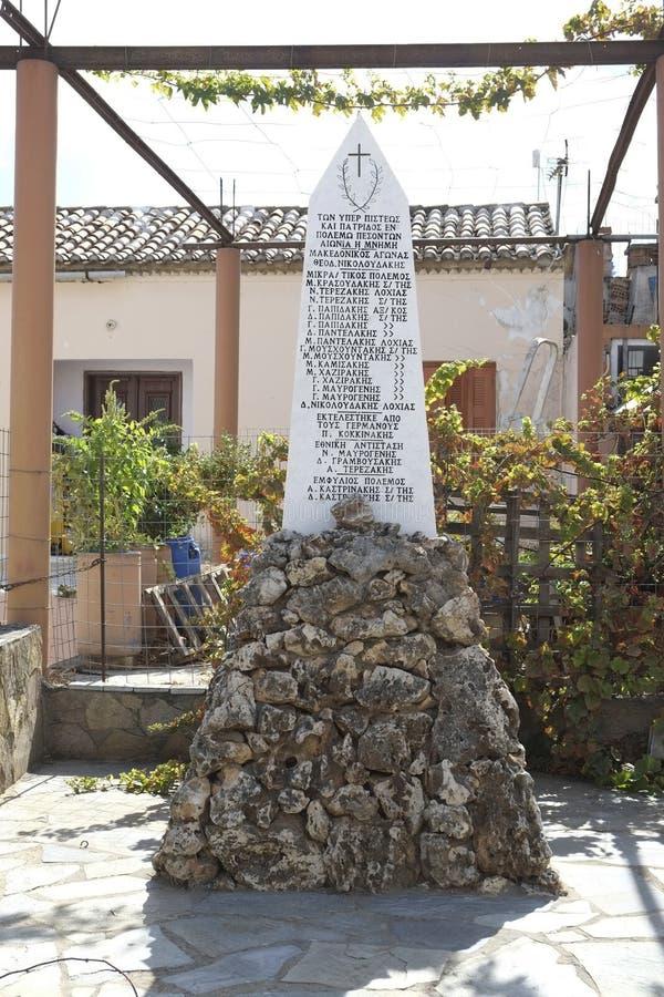 Военный мемориал Крита стоковое фото rf