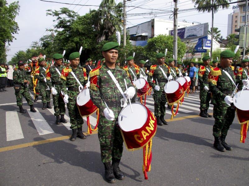 Военный оркестр армии стоковое изображение rf