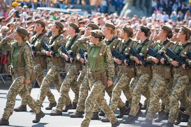 Военный парад в Киеве, Украине стоковая фотография rf