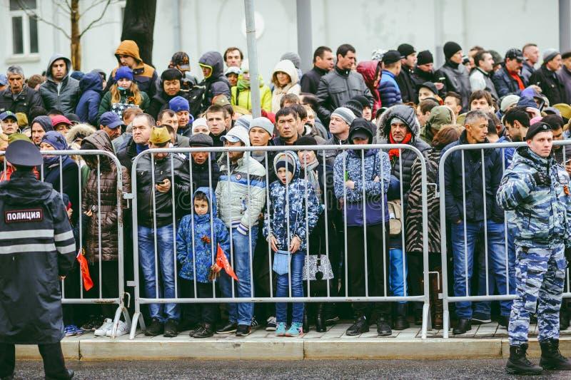 Военный парад в Москве, России стоковая фотография rf