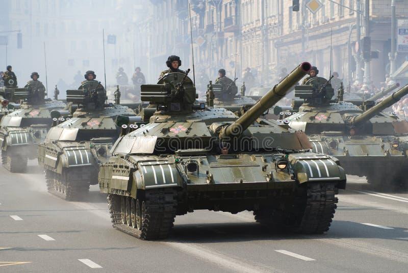 военный парад kiev стоковая фотография