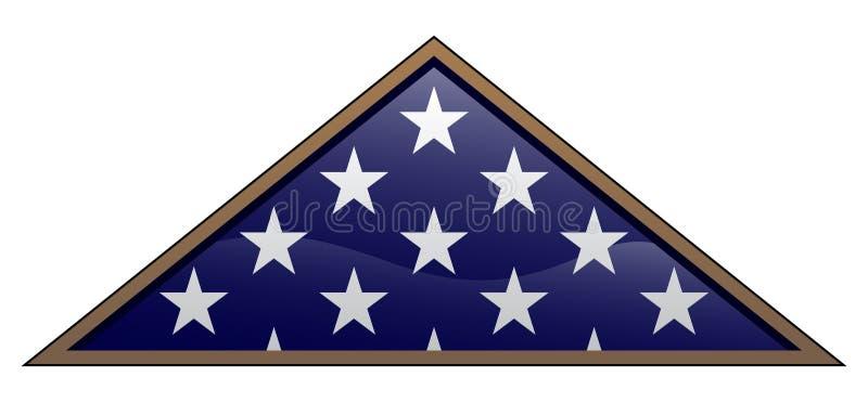 Военным иллюстрация вектора американского флага ветерана сложенная стилем иллюстрация штока