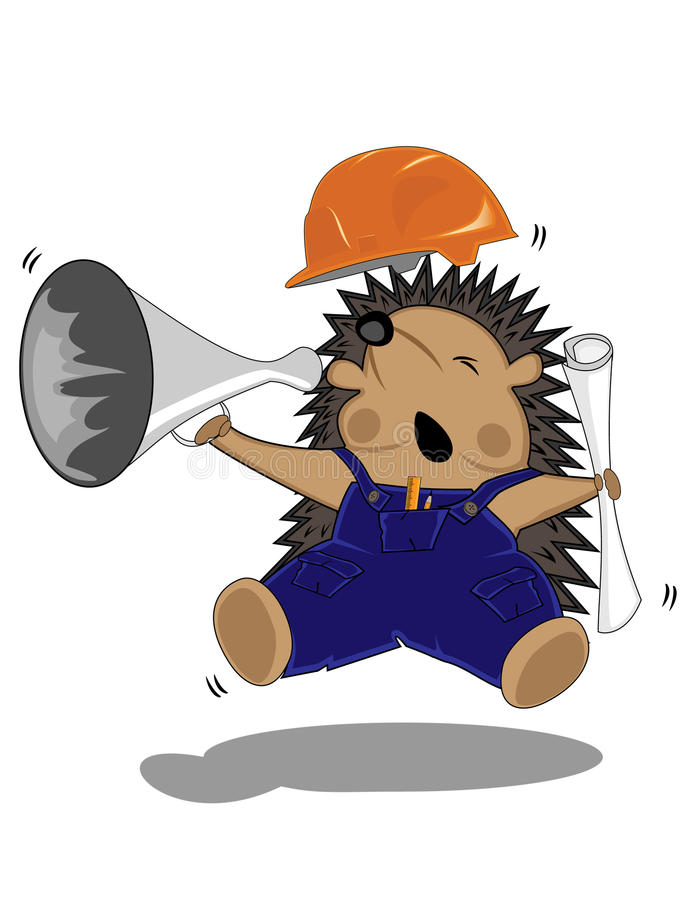 вождь чертит hedgehog бесплатная иллюстрация