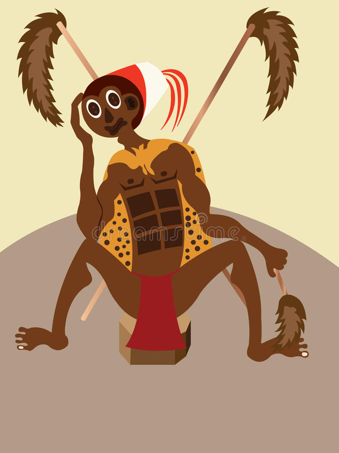 Вождь племени иллюстрация вектора
