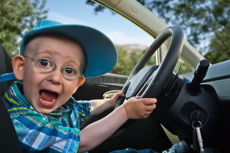 возбужденный водитель стоковая фотография rf