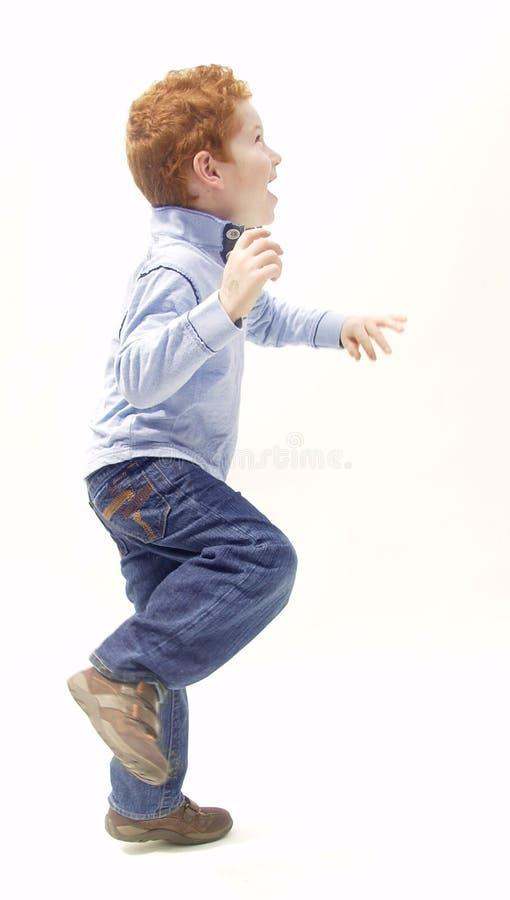 возбужденный мальчик стоковые фото