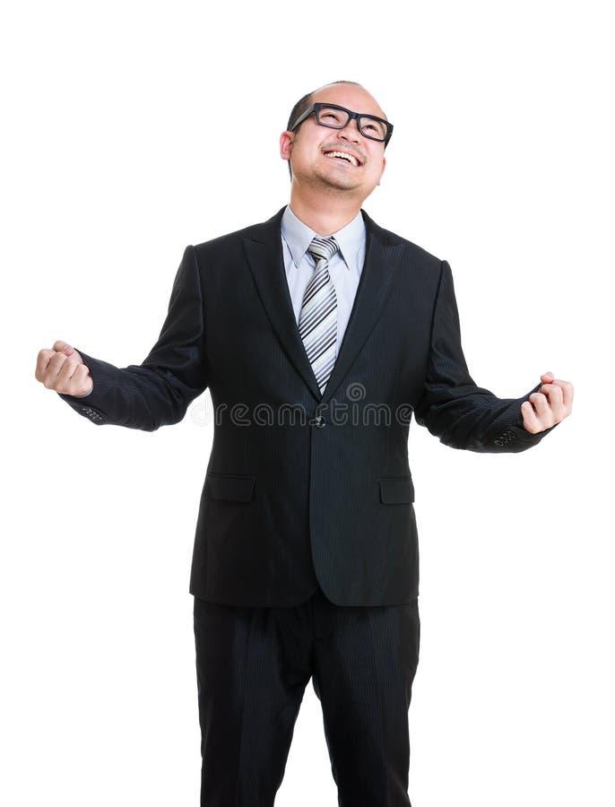 Возбудите бизнесмена стоковое изображение rf