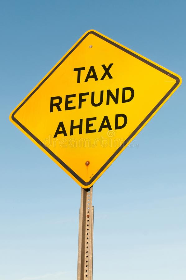 Возврат налога вперед стоковая фотография rf