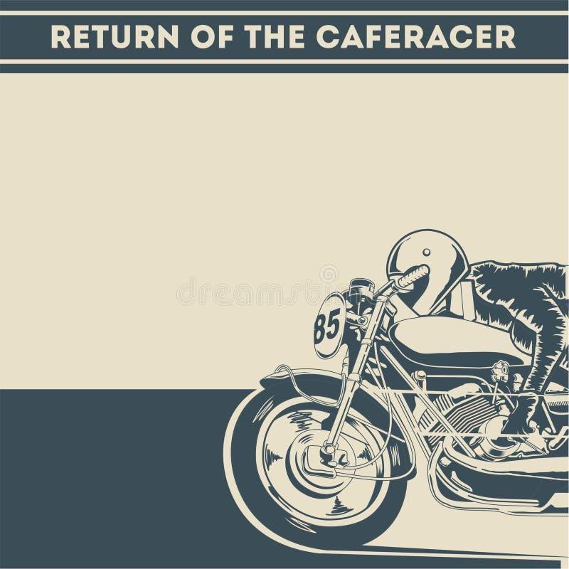 Возвращение иллюстрации плаката гонщика кафа бесплатная иллюстрация