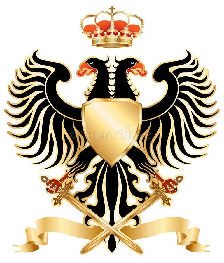 возглавленный орел цвета двойной иллюстрация вектора