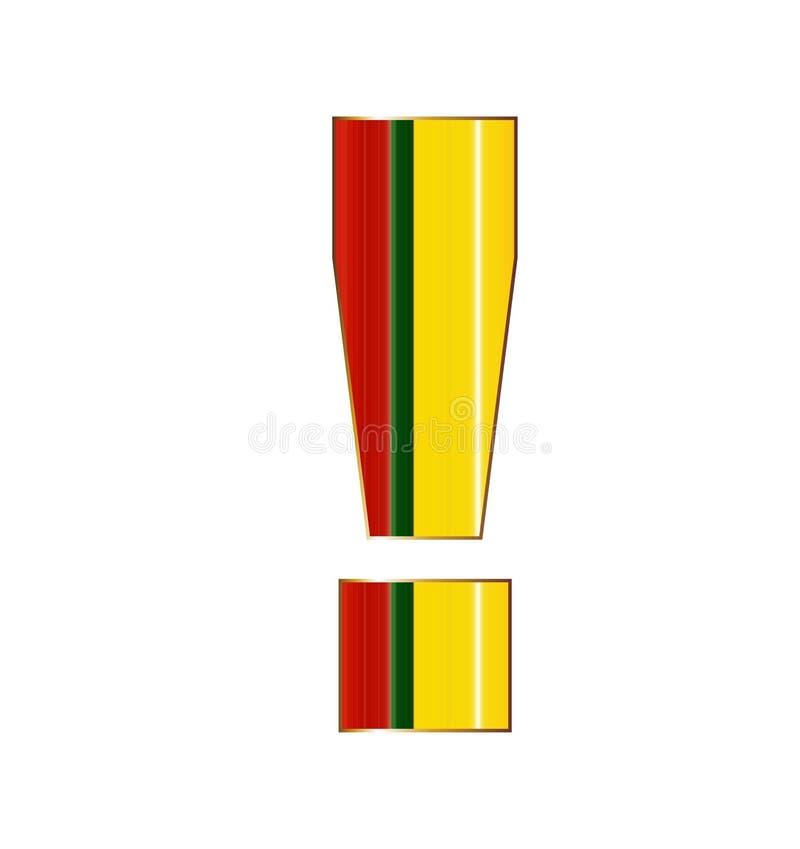 Возглас подписывает внутри красочные линии на белой предпосылке иллюстрация вектора