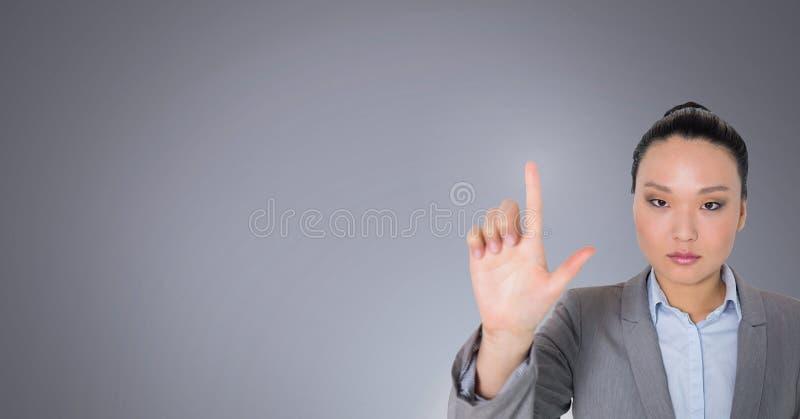 Воздух женщины касающий стоковая фотография rf