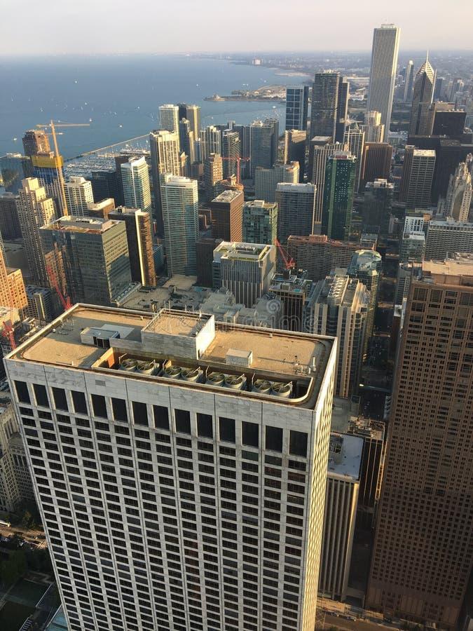 Воздух Чикагского горизонта стоковое изображение