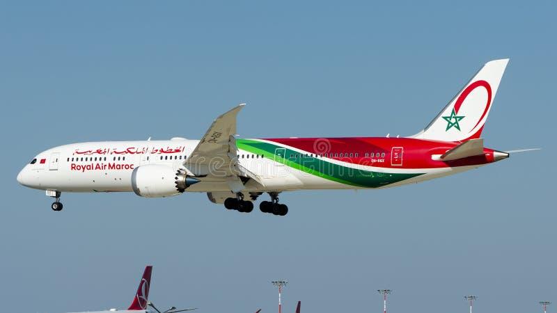 Воздух Maroc CN-RGK королевский, Боинг 787-9 Dreamliner стоковое фото rf