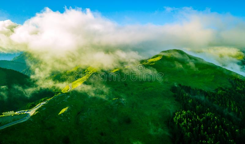 Воздушная гора Hehuanshan съемки стоковые изображения