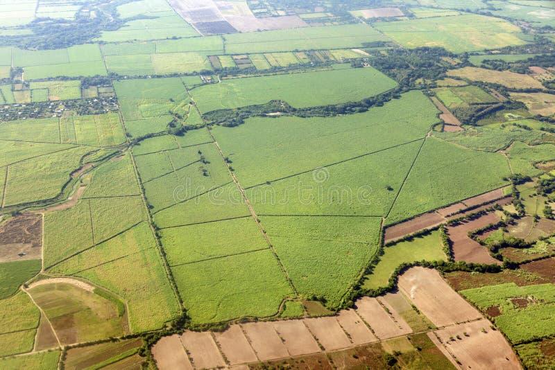 Воздушная панорама сельских зон Сальвадора стоковое изображение rf