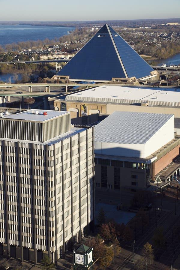 воздушная панорама memphis стоковое фото