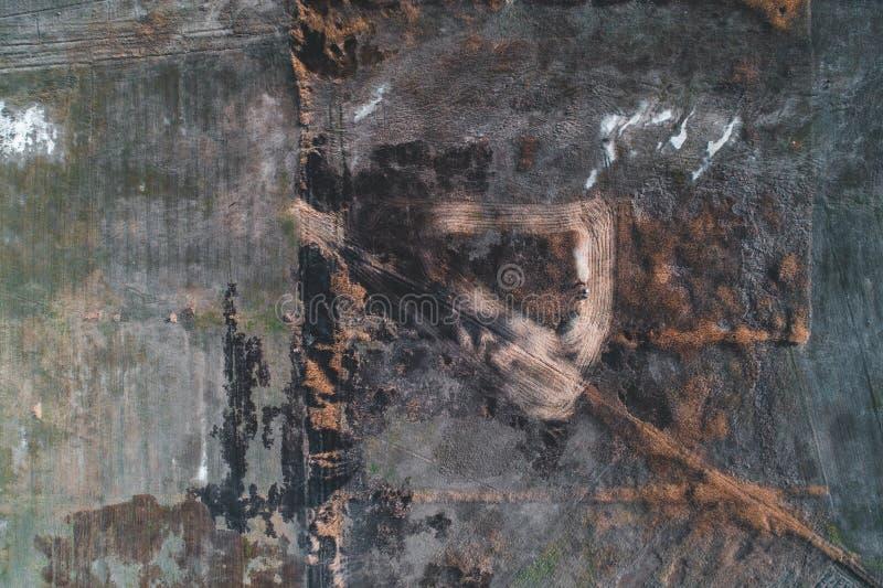 Воздушная съемка поля стоковое фото rf