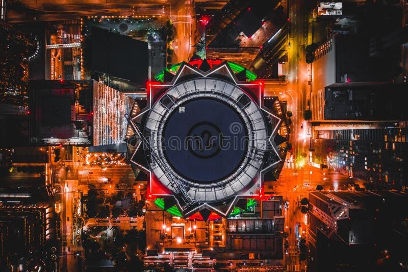 Воздушная съемка u S Башня банка стоковое изображение rf