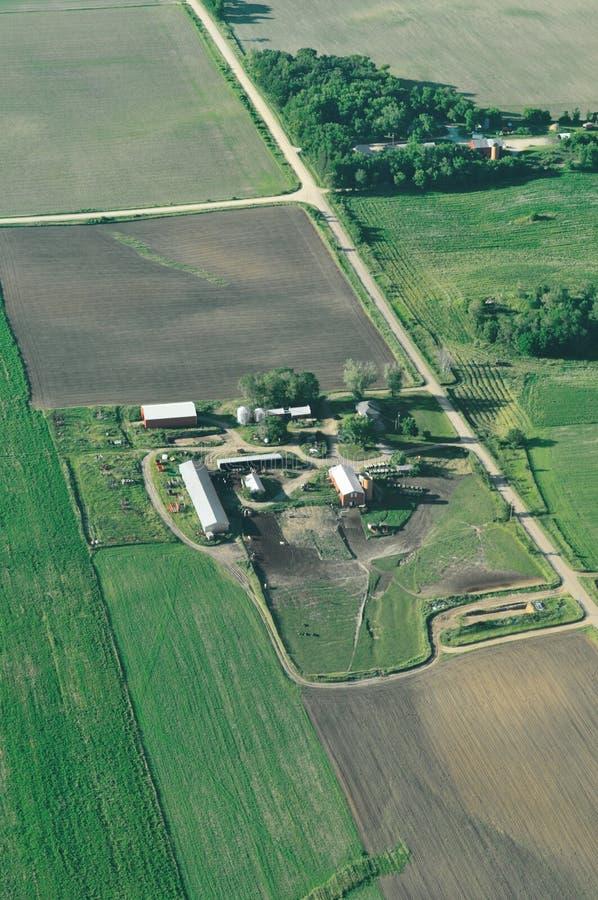 воздушная ферма Минесота стоковые изображения