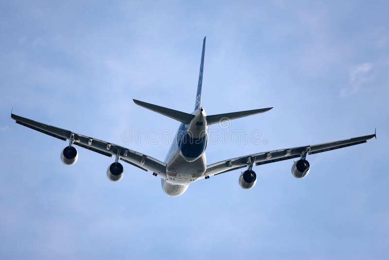 Воздушного судна F-WWOW авиалайнера аэробуса A380-841 большие 4 engined коммерчески стоковая фотография