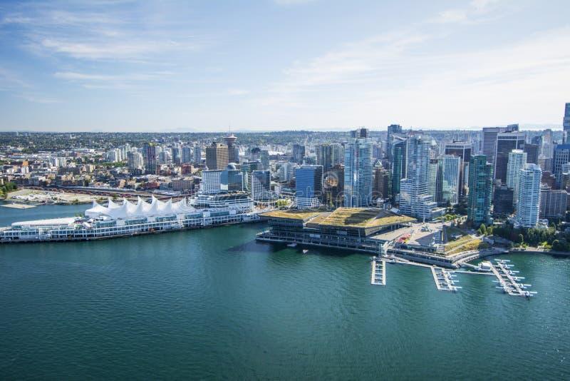 Воздушное изображение Ванкувера, ДО РОЖДЕСТВА ХРИСТОВА стоковые фото