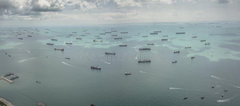 Воздушное изображение зоны залива Марины стоковые изображения