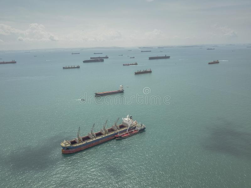 Воздушное изображение зоны залива Марины стоковое изображение
