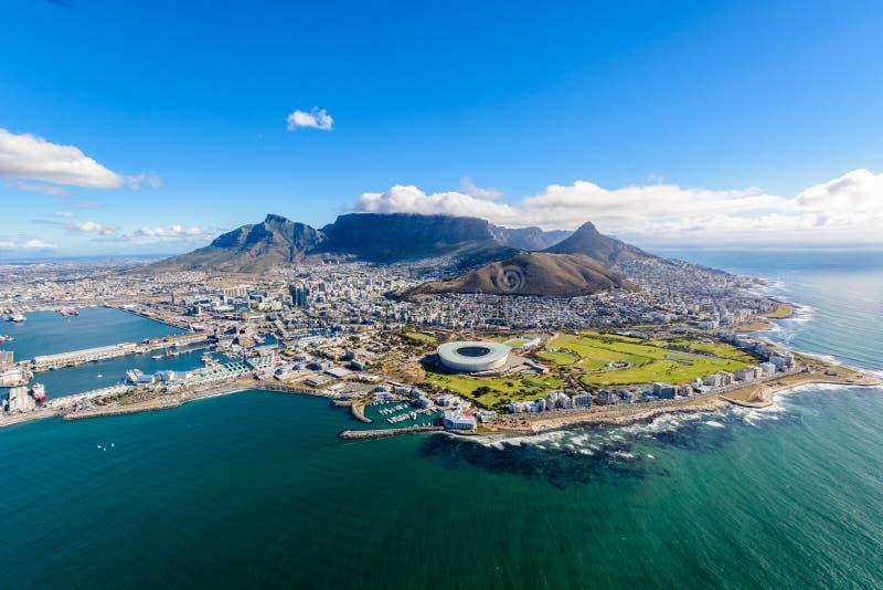 Воздушное фото Кейптауна 2 стоковое фото