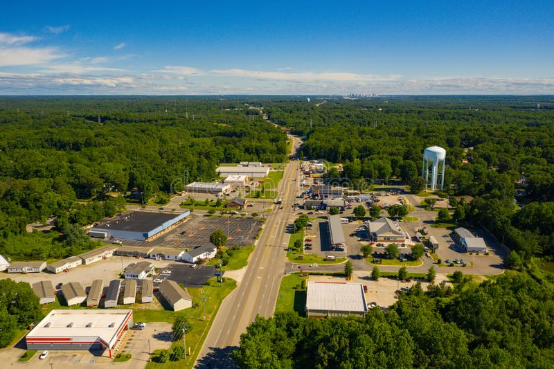 Воздушное фото Честер VA США стоковая фотография rf