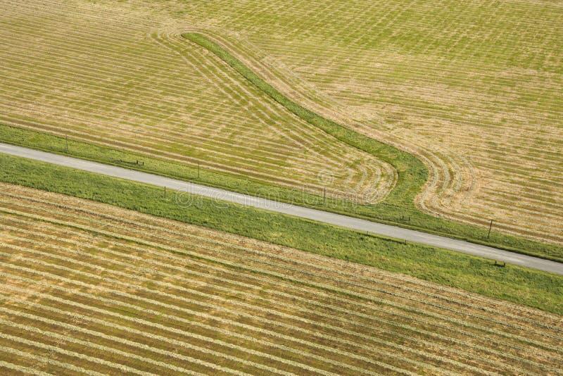 воздушное cropland стоковые изображения