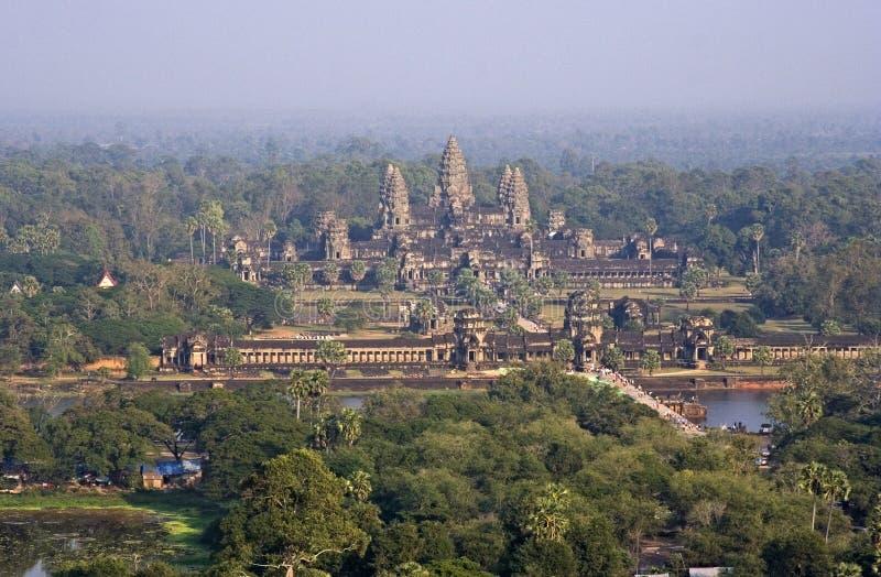 воздушное wat взгляда angkor стоковое изображение rf