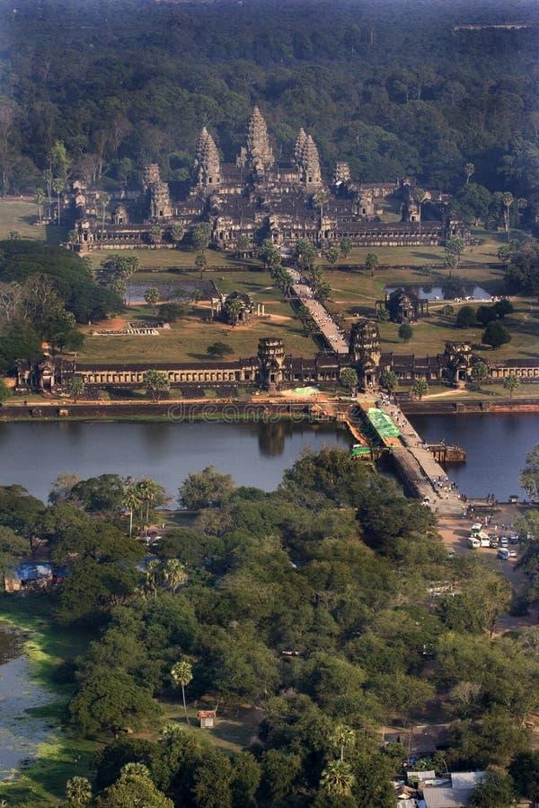 воздушное wat angkor стоковое изображение rf