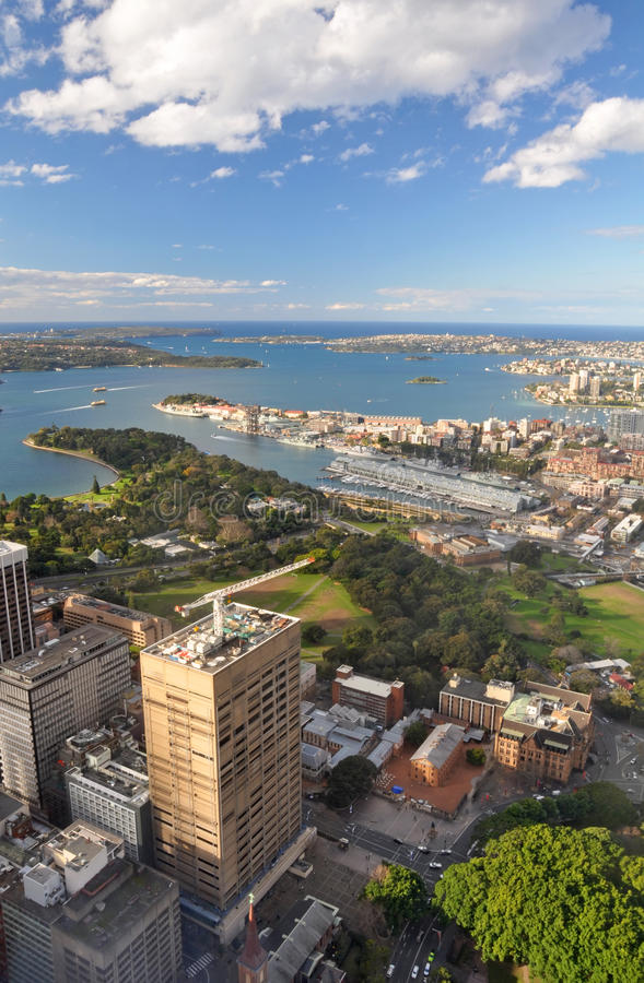 воздушные пригороды Сидней гавани Австралии восточные стоковые фотографии rf
