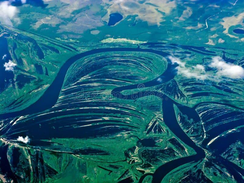 воздушные реки Россия стоковые фотографии rf