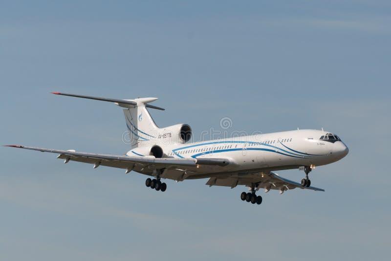 Воздушные судн двигателя Tupolev Tu-154 стоковое изображение rf