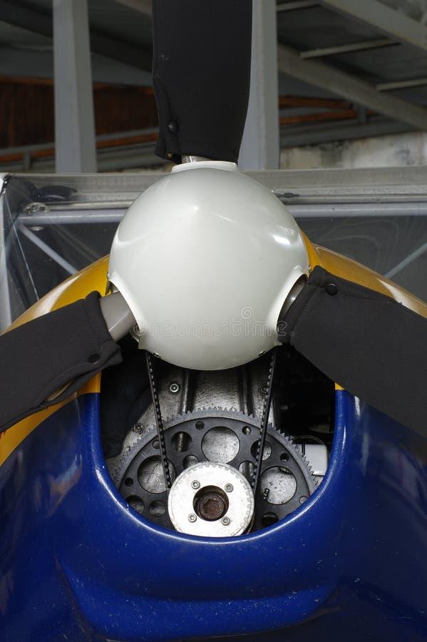 Воздушные судн детали пропеллера спортивные стоковые фотографии rf