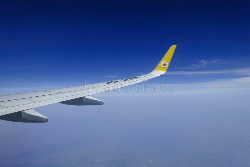 Воздушные судн, крыла самолета стоковая фотография rf