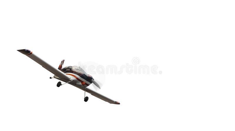 Воздушные судн - малая предпосылка белизны самолета стоковое изображение rf