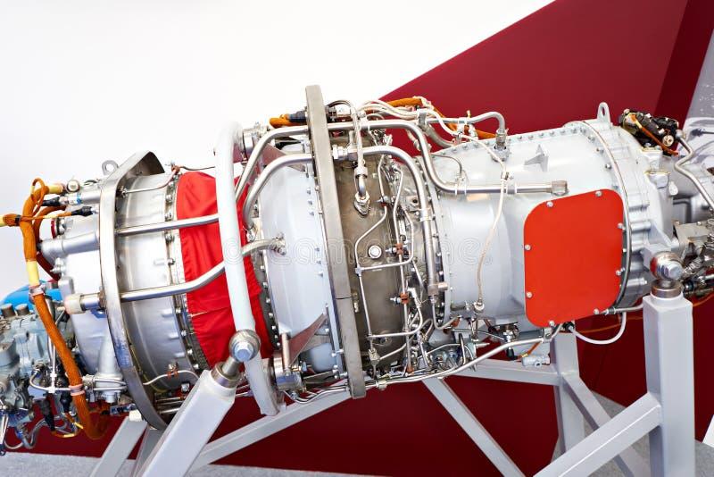 Воздушные судн турбовинтового самолета двигателя на выставке стоковые изображения rf