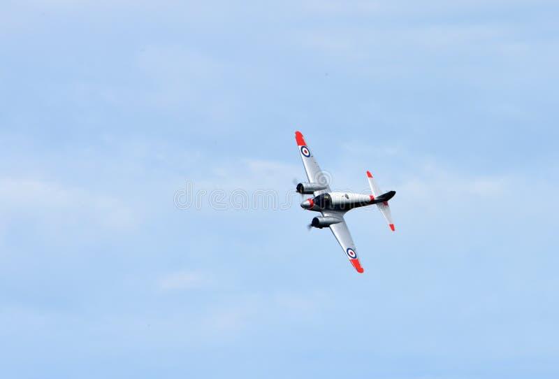 Воздушные судн Avro C19 Anson винтажные в полете стоковые фотографии rf