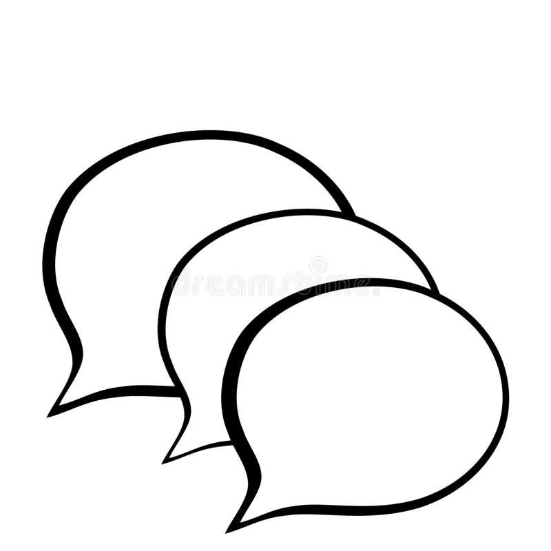 Воздушные шары голоса иллюстрация штока