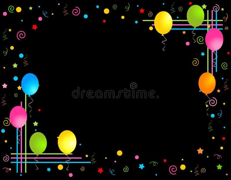 воздушные шары граничат цветастую партию рамки иллюстрация вектора