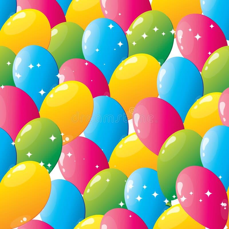 воздушные шары делают по образцу безшовное иллюстрация вектора