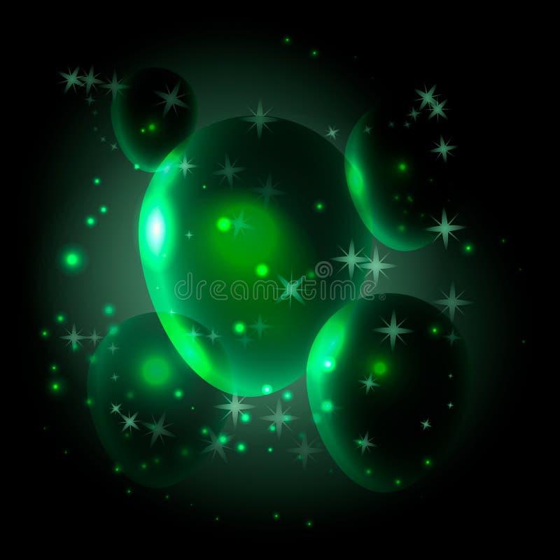 Воздушные шары и звезды иллюстрация вектора